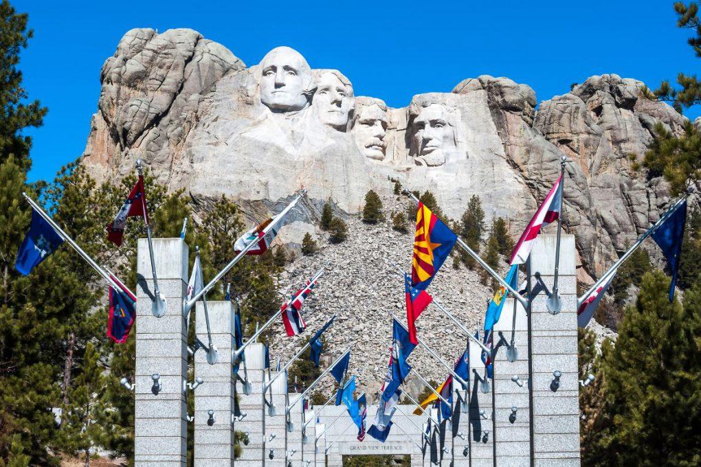 O monumental Mount Rushmore