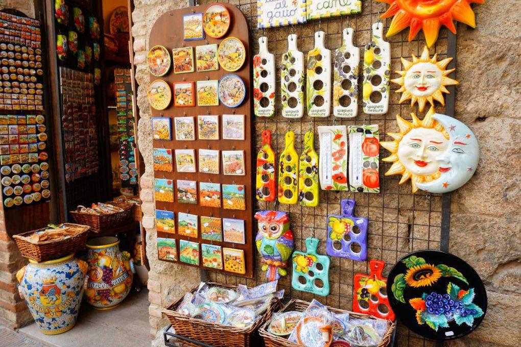 Souvenirs em San Gimignano