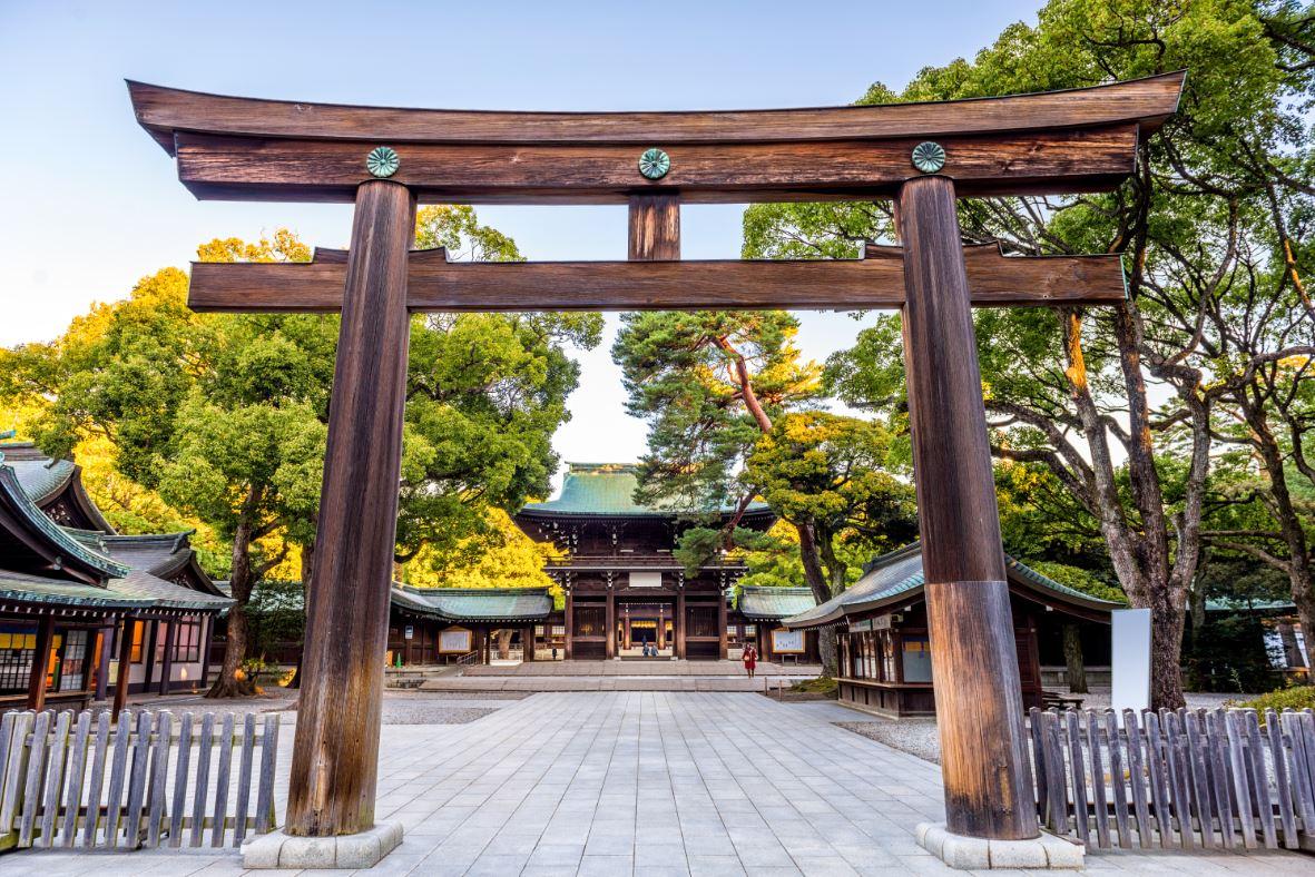 O Templo Meiji é o maior santuário xintoísta da capital
