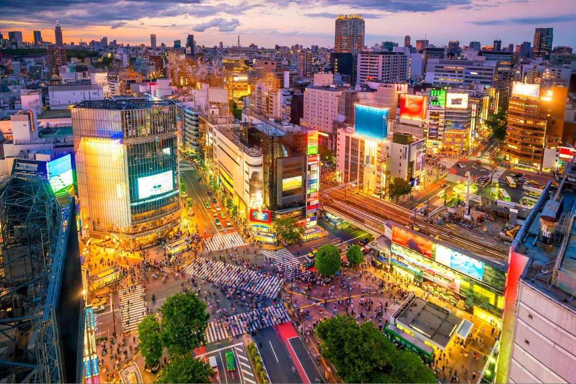 O bairro Shibuya é o endereço dos grandes shoppings