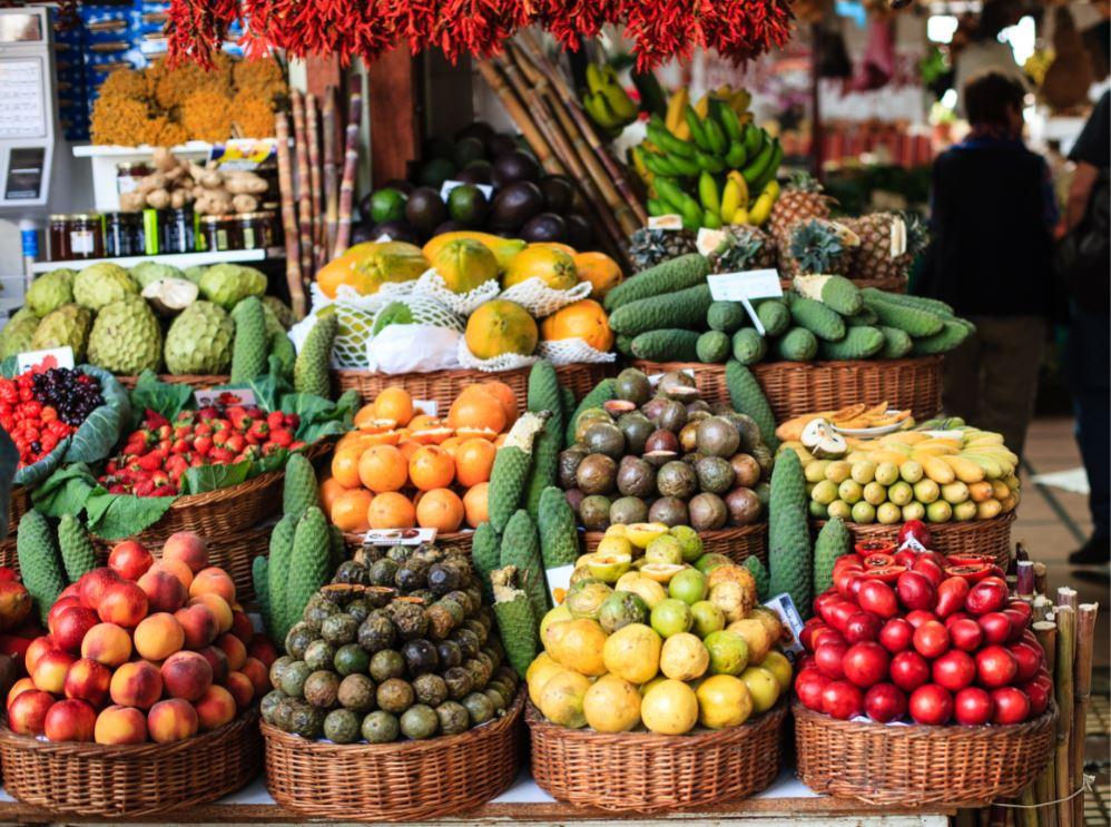 Frutas exóticas no Mercado dos Lavradores de Funchal