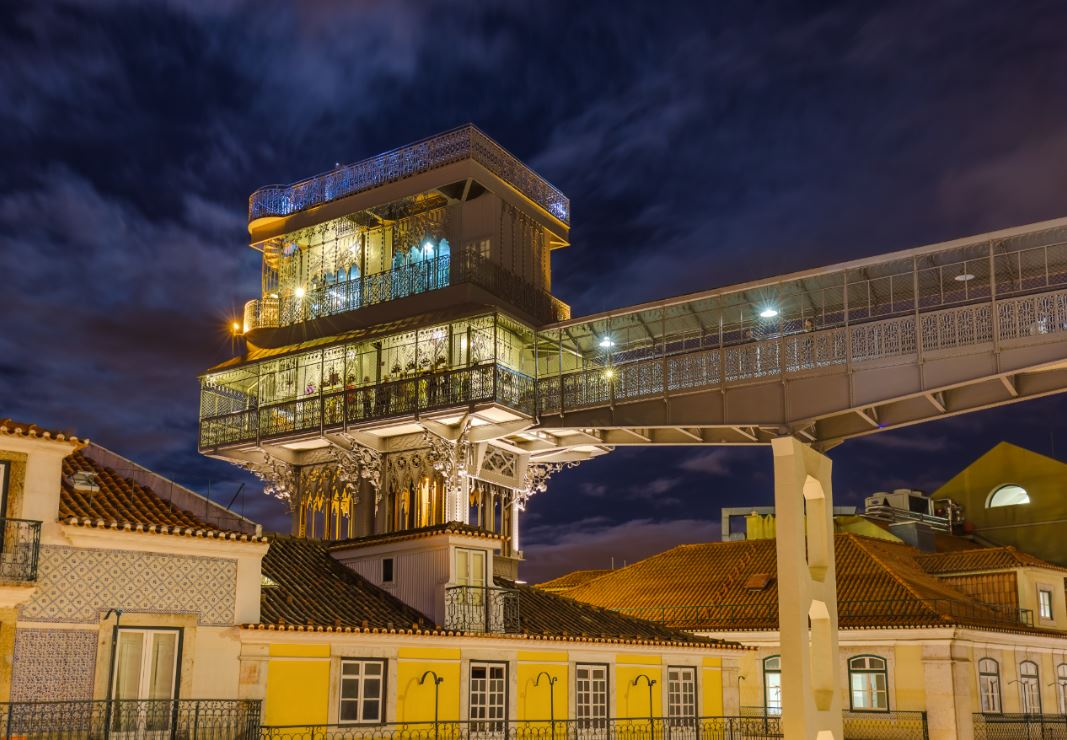 O Elevador Santa Justa, inaugurado em 1902