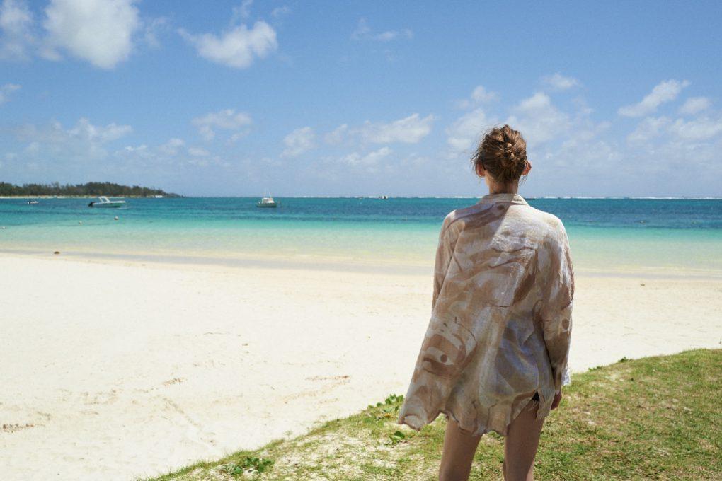 Paisagem paradisíaca nas Ilhas Maurício